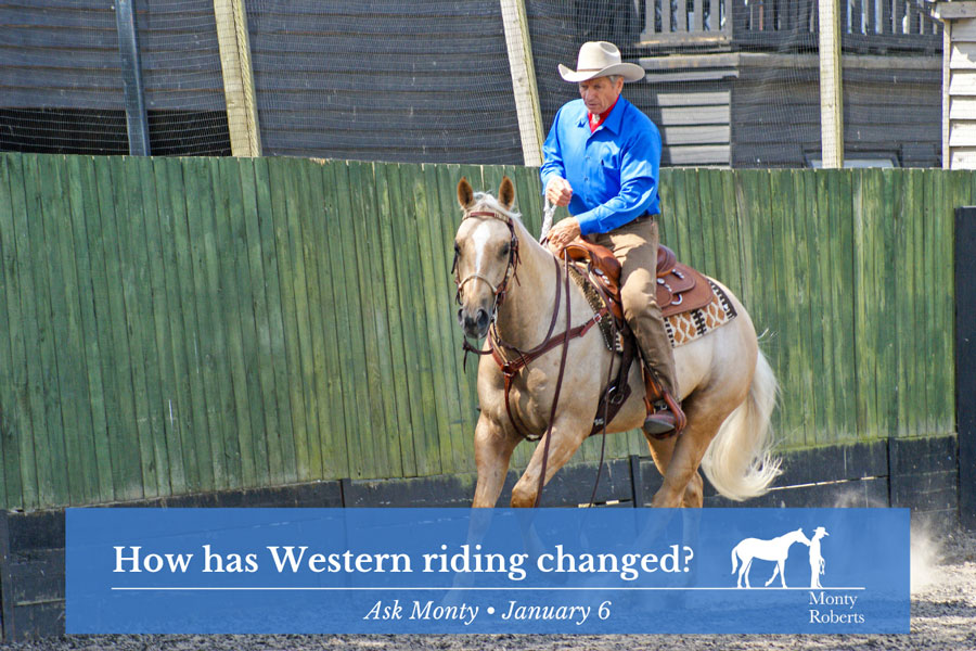 Ask Monty - How has western riding changed?