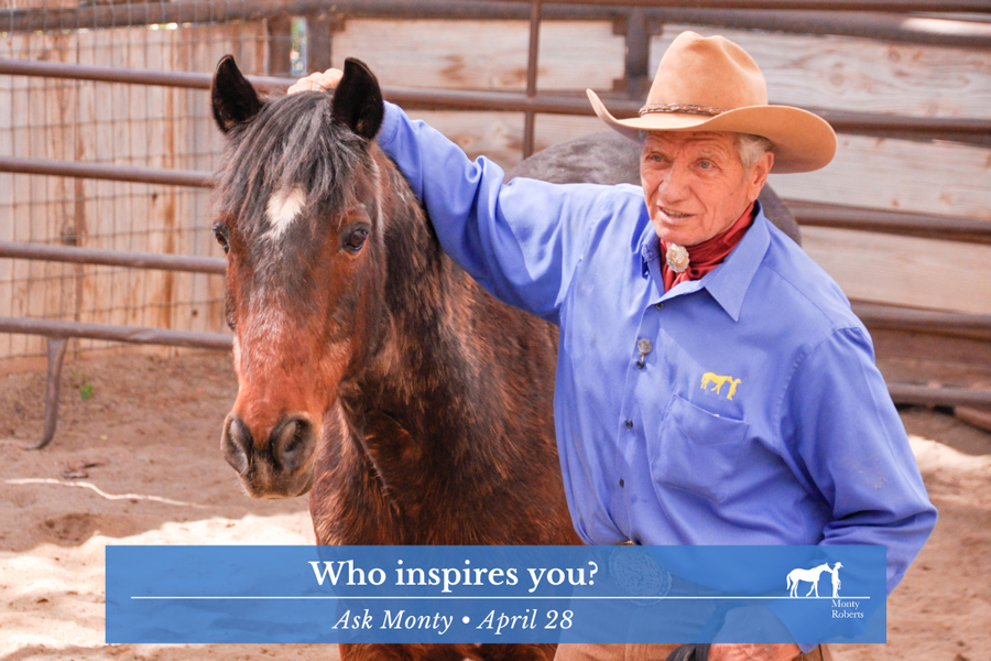 Ask Monty - Who inspires you?