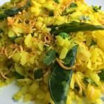 Green Pea Poha Recipe