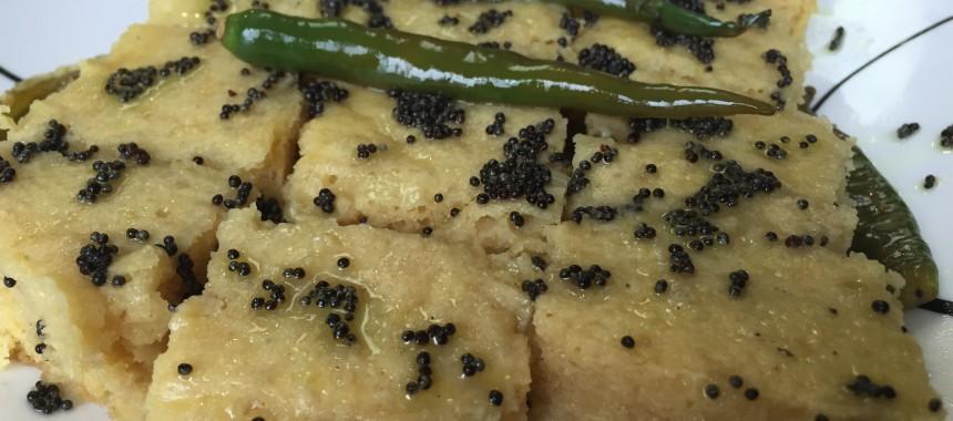 Instant Dhokla (Steamed gram flour dumplings)
