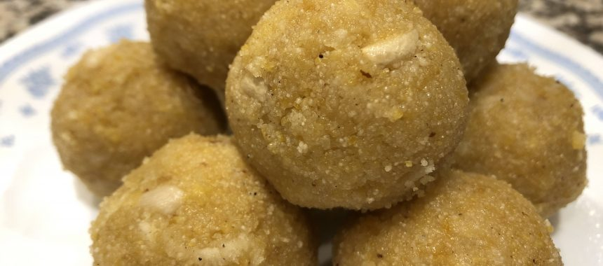 Raghavdas Ladoo Recipe (Semolina And Gram Flour Ladoo)