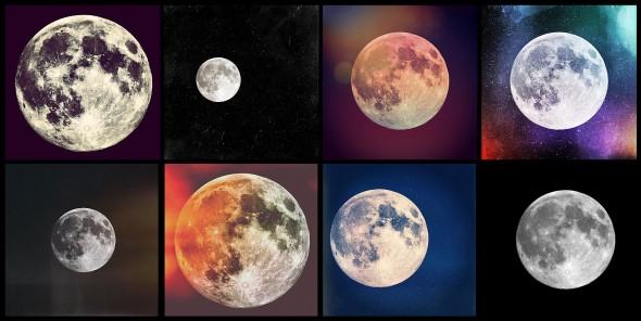Supermoon collage -- photos by Danny Wild on June 22, 2013