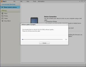 Kies firmware downloading