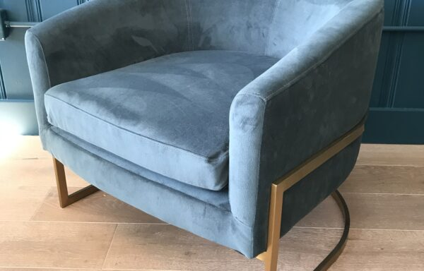 Blue Jewel Toned Side Chair – DESIGNER SAMPLE SALE