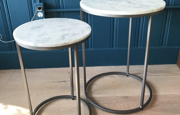 Set of Round Marble Top Nesting Tables – DESIGNER SAMPLE SALE