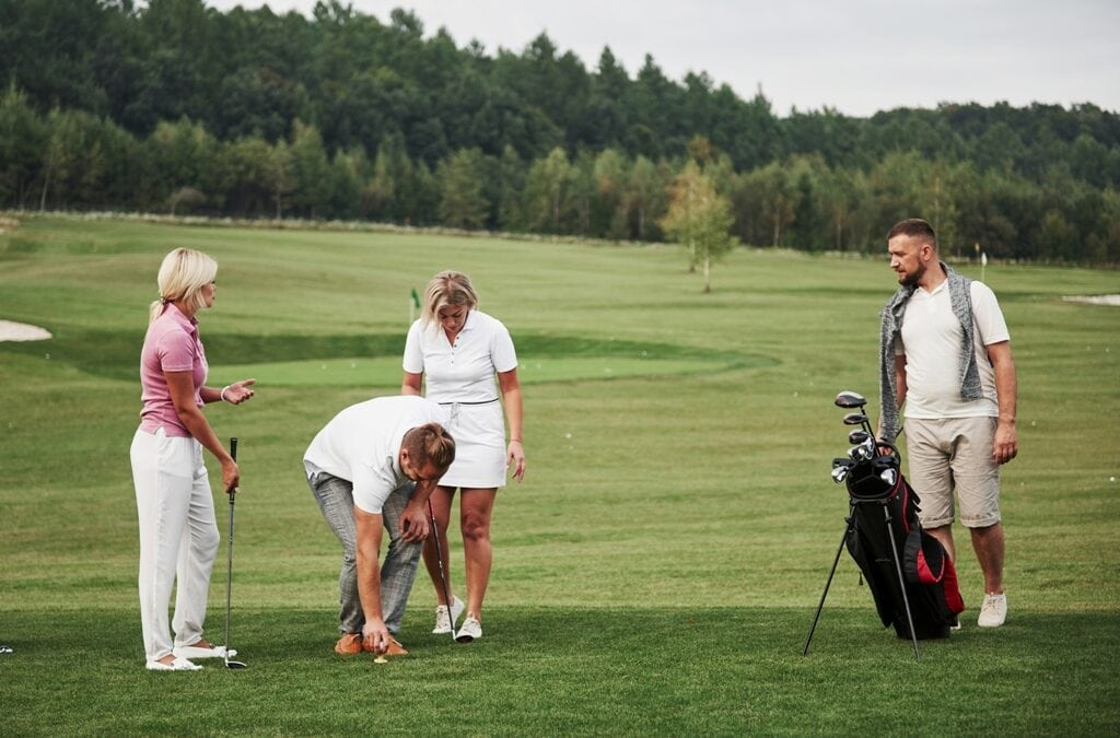 Friends Playing Golf Together