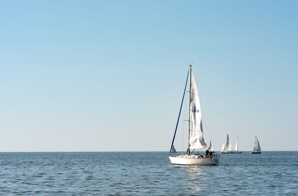 Sail Boats on Lake Erie