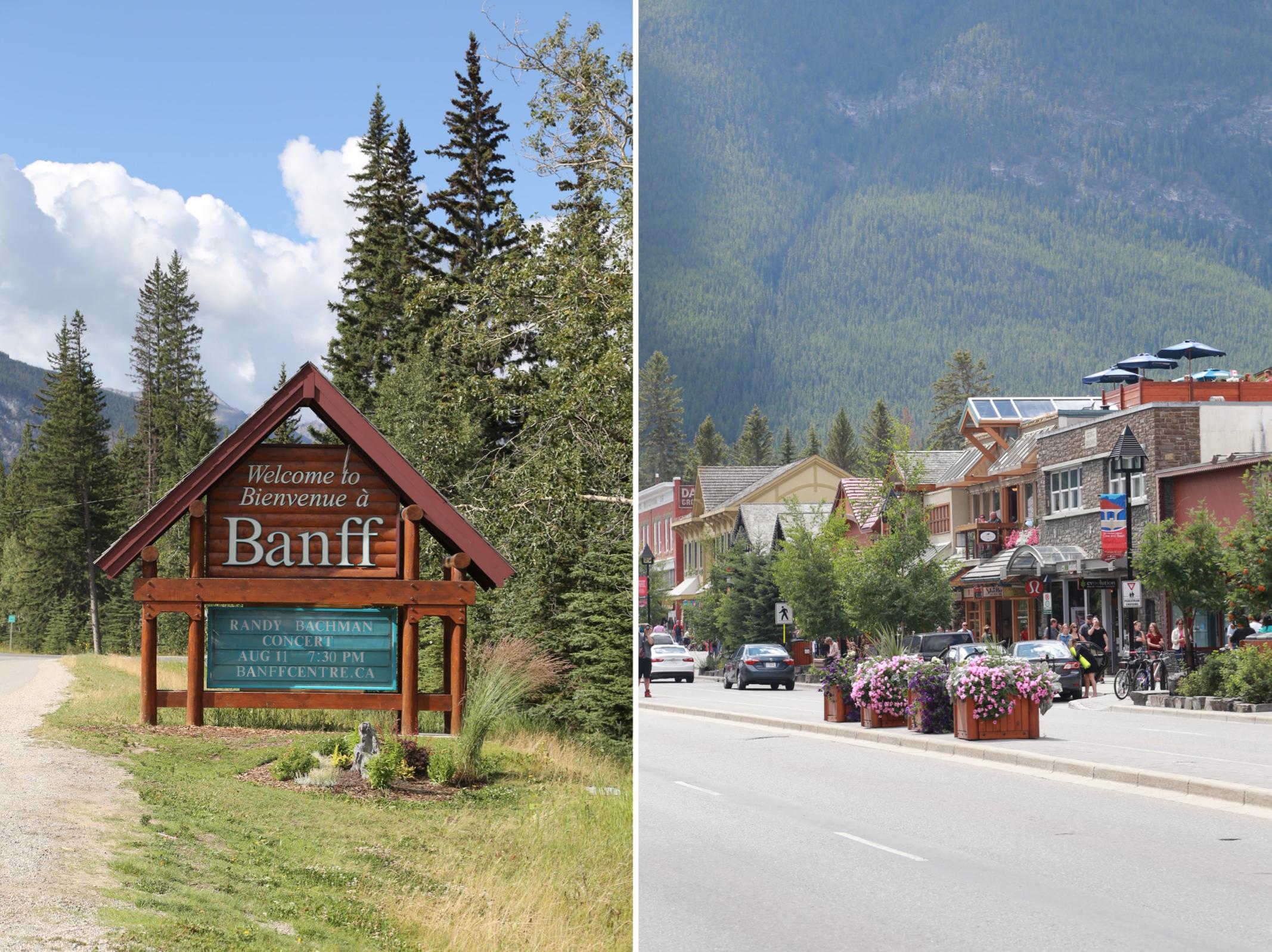 Downtown Banff Canada