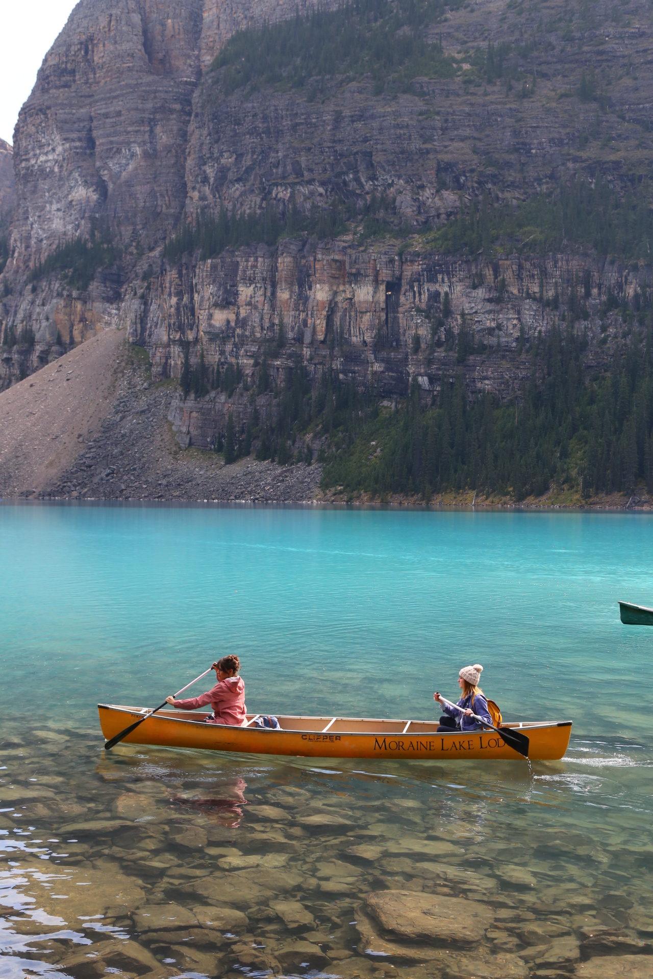 Erie Nick Lake Louise City Guide: Lake Moraine Canoeing