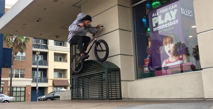 cement face gone biking bike way promo BMX video