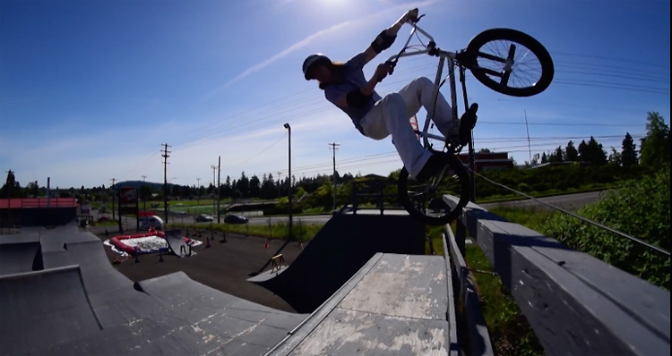 Paddy Gross our Pegs Two brakes One Atitude BMX video
