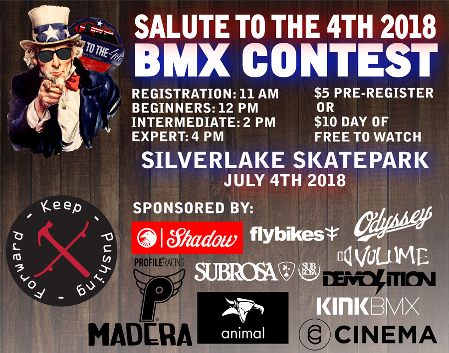 Salute to the 4th 2018 BMX Contest Flyer