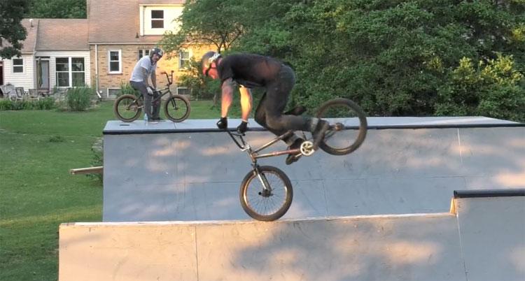 Billy Woodfin backyard bmx ramp