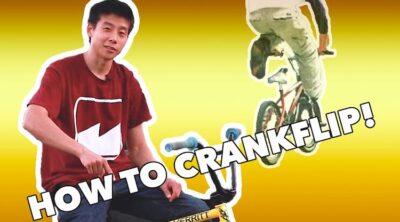 how to crankflip bmx