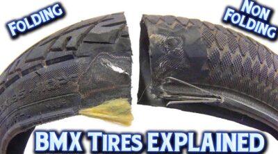 BMX tires explained folding vs non-folding