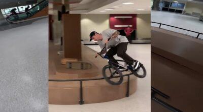 Broc Raiford BMX In An Airport
