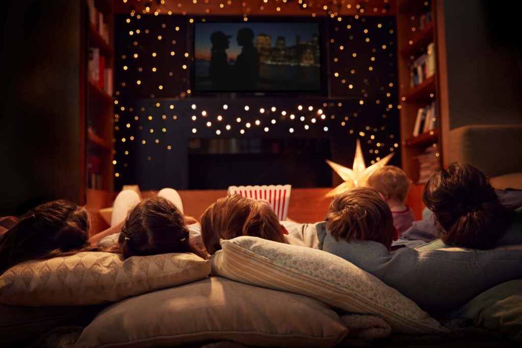 A family movie night.