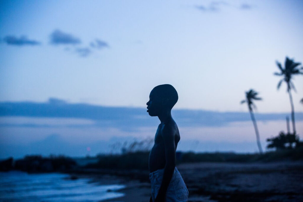Still image from Moonlight Directed by Barry Jenkins.