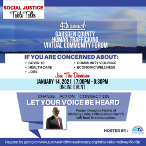 4th Annual Gadsden County Human Trafficking Community Forum @ Facebook Live