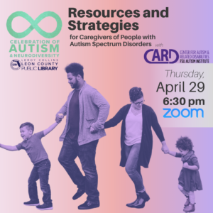 Resources and Strategies for Caregivers of People with Autism Spectrum Disorders @ Zoom | Greenville | South Carolina | United States