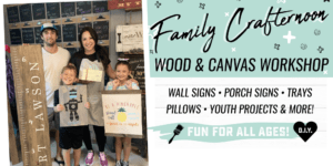 Family Crafternoon - Choose from Wood OR Canvas Projects @ AR Workshop Tallahassee | Tallahassee | Florida | United States