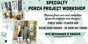 Specialty - Porch Project Workshop @ AR Workshop Tallahassee | Tallahassee | Florida | United States