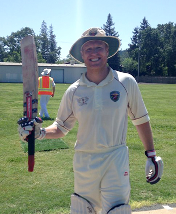 NVCC Opening Batman Dale Moorhouse who scored 74 runs off 57 balls. Photos by Tim Irwin