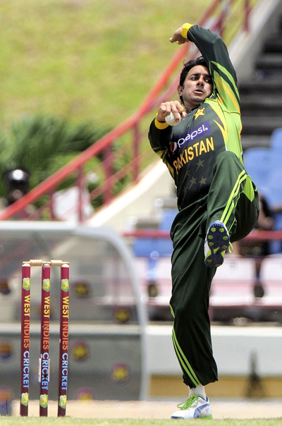 Saeed Ajmal has 447 wickets to his credit in international cricket. WICB Media Photo/Randy Brooks