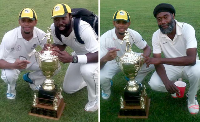 Zeniffe Fowler (L) and Campbell pose with trophy. Right, Fowler and veteran Williamson.