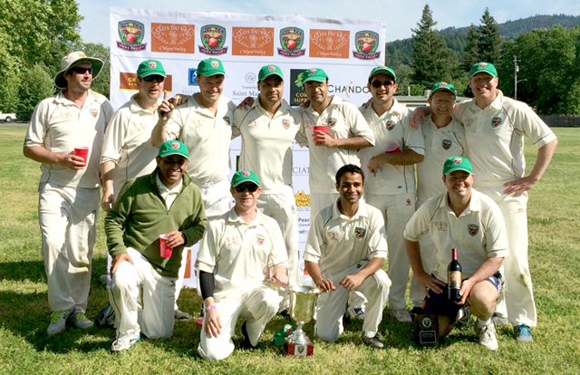 •The victorious Rest of the World team. Back row (L-R) Martin Mackenzie, Clive Richardson, Bernie Peacock, Kiranpreet Singh, Abhijit Adhye, Adersh Maqsood, Jeff Keene, Dale Moorhouse. Front Row (L-R) Bijoy Ojha, Andrew Healy, Amritpal Bhatal, Bill Nancarrow, not in picture.