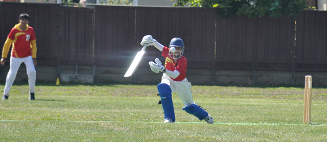 Ved Patel struck the only century of the tournament.