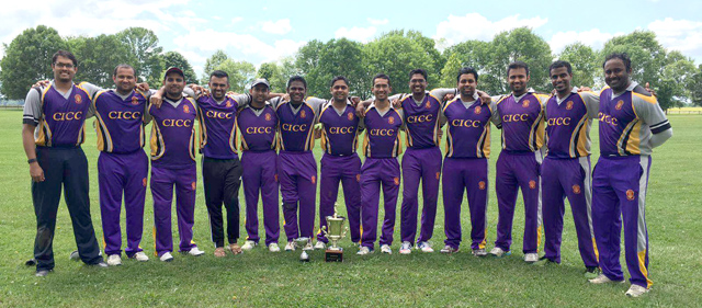 The victorious Columbus Indiana Cricket Club.
