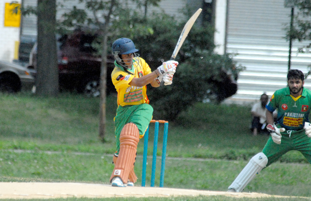 Guyana's Akshay Homraj during his knock of 69. Photo by Shiek Mohamed