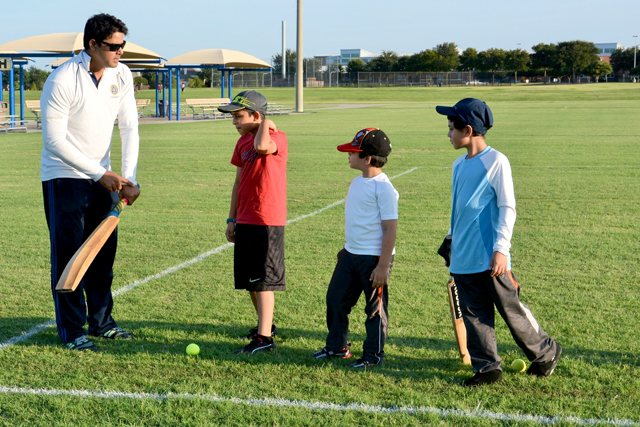 Fahad Shahnawaz working with youth cricketers to help improve their basics of cricket from the grassroots level up.