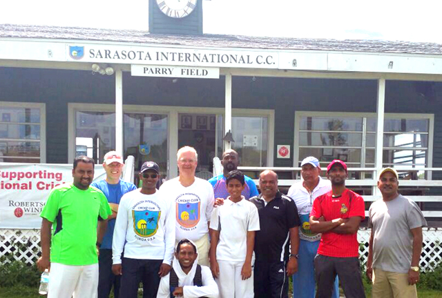 ACF Director of Coaching Jatin Patel (4th from right) and former West Indies Test player Shivnarine Chanderpaul (3rd from left) join some of the newly certified coaches and players.