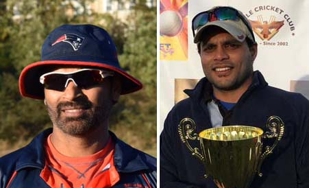 Fazzal Aalam (left) and Rohith Reddy shared a partnership of 113 runs.