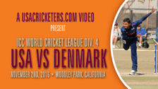 USA vs Denmark at 2016 ICC World Cricket League Division 4 – USA Bowling Part 3