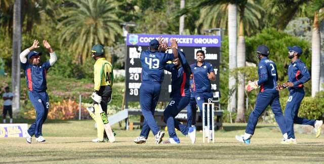 USA Cricket Team celebrate