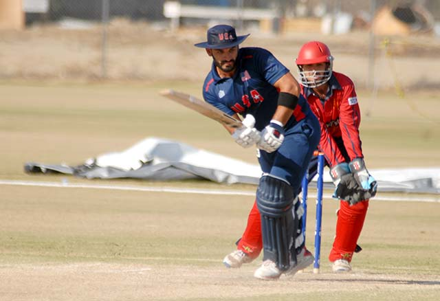 Syed Abdullah batting, usa cricket Syed Abdullah, us cricketer Syed Abdullah batting, usa club cricket, us league cricket