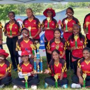 State Girls Team Plays Historic First Series