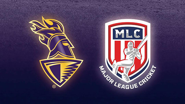KKR and Major League Cricket logos
