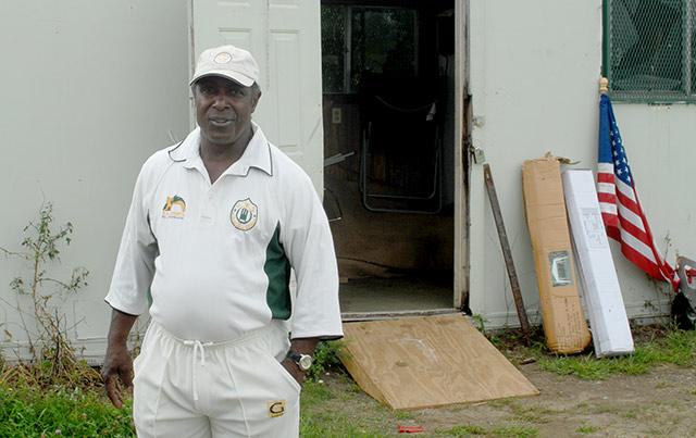Nathan Henderson in cricket uniform