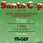 Santa Cop with the West Mifflin Police Department