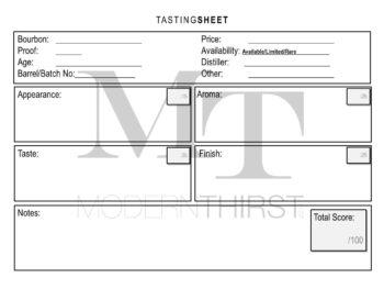 MT Tasting Sheet