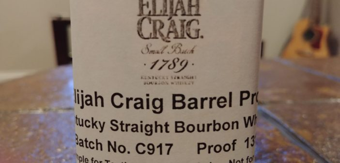 Elijah Craig Barrel Proof Batch C917