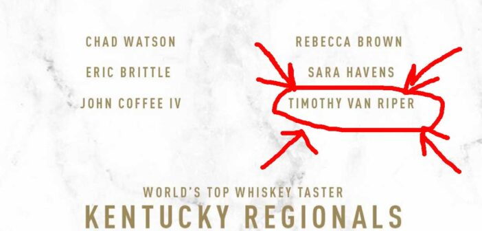 Root for TIMOTHY VAN RIPER in the Bardstown Bourbon Company Kentucky Regionals!