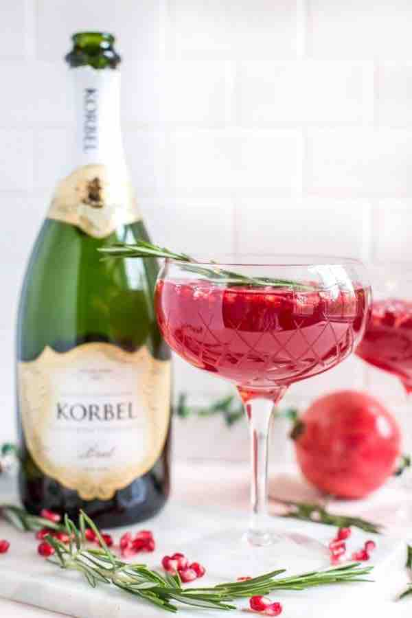 Korbel Pomegranate Champagne Cocktail
