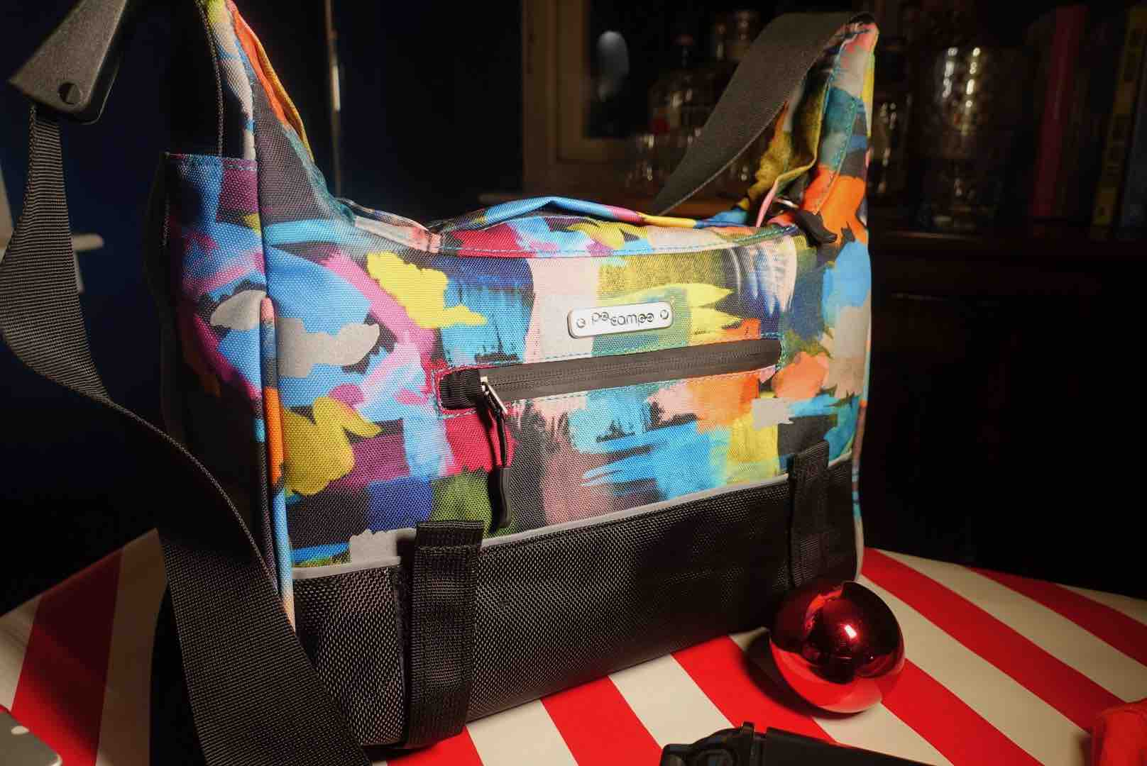 Po Campo Po Campo Chelsea Bike Trunk Bag will let her be seen while riding on bike or scooter