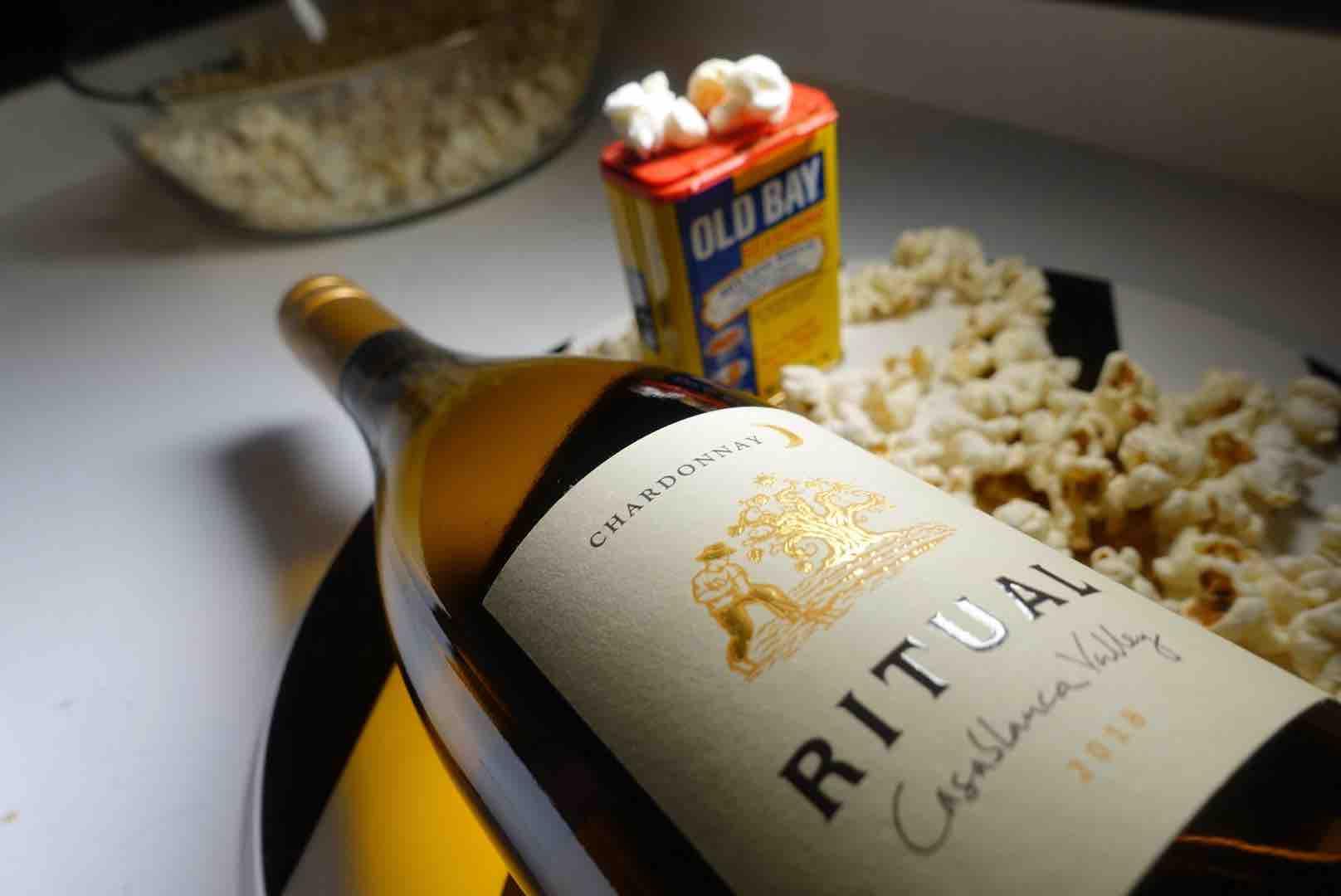 This Ritual Chardonnay Best Wine And Popcorn Pairings For Your Next Binge-Watching Night