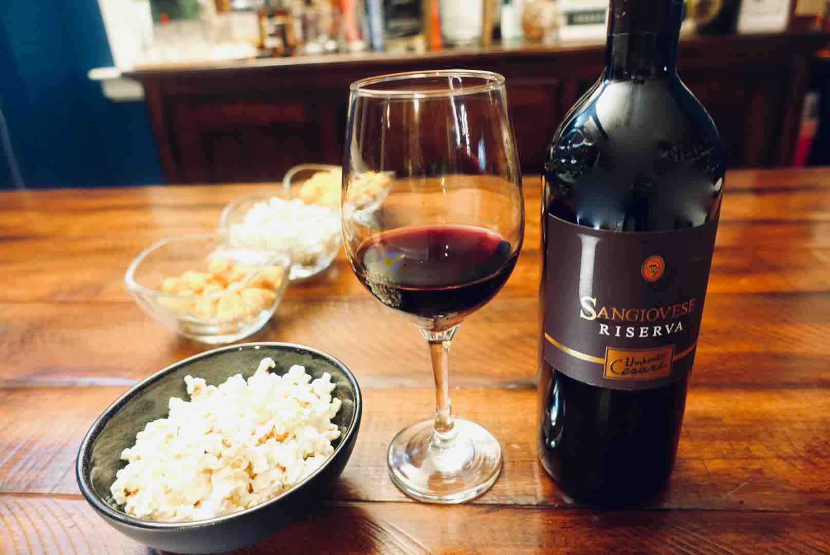Sangiovese Is The Best Wine And Popcorn Pairings For Your Next Binge-Watching Night